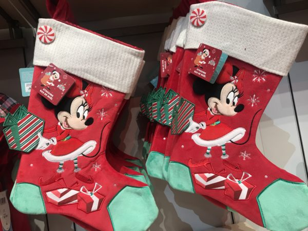 Minnie Mouse Christmas stocking.