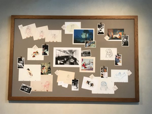 The animators even left some of their sketches behind!