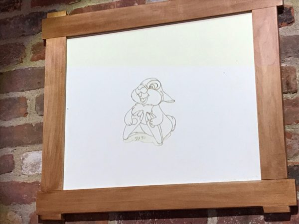 Look how cute this original drawing of Thumper is!