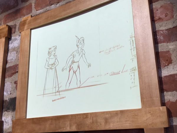 The sheets start out blank then magically show pencil sketches of classic Disney characters.