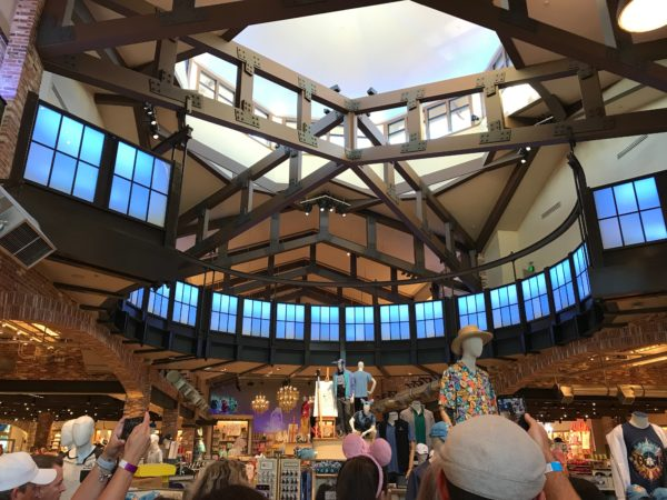 The whole store has been reimagined and rethemed to a loft-style building, which first served as a farmers market then a Disney animation studio and now a store.