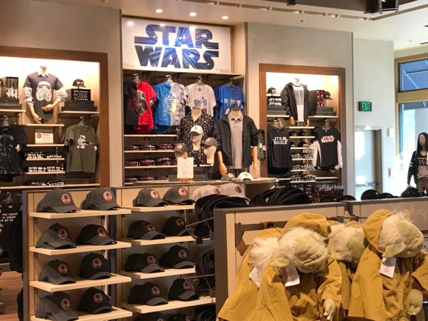 Star Wars: Galaxy's Edge will be opening next year, so World of Disney is carrying lots of Star Wars merchandise!