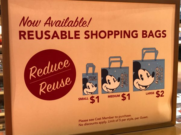 World of Disney gives us our first look at the reusable bags that will soon be sold all over Disney World!