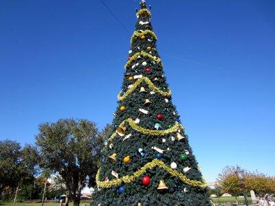 World Showcase Christmas Tree.