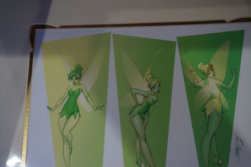 I'm not quite sure how to describe this Tinkerbell art.