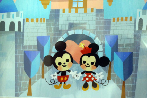 Check out the artist's take on Mickey and Minnie.