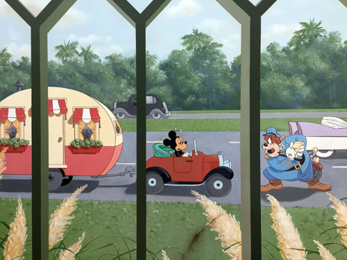 Disney Casting Center - Mickey Mouse gets a ticket.