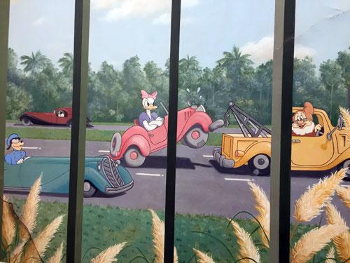 Disney Casting Center - Daisy Duck gets towed.