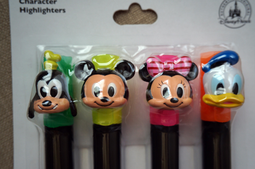 Classic Disney character highlighters.