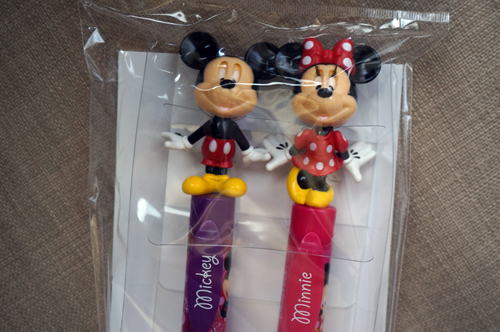 Mickey and Minnie pens.